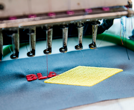 bordado por computadora en textiles