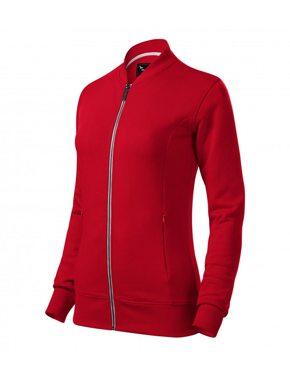 Bluza damska z suwakiem BOMBER 454 czerwona dowolne logo