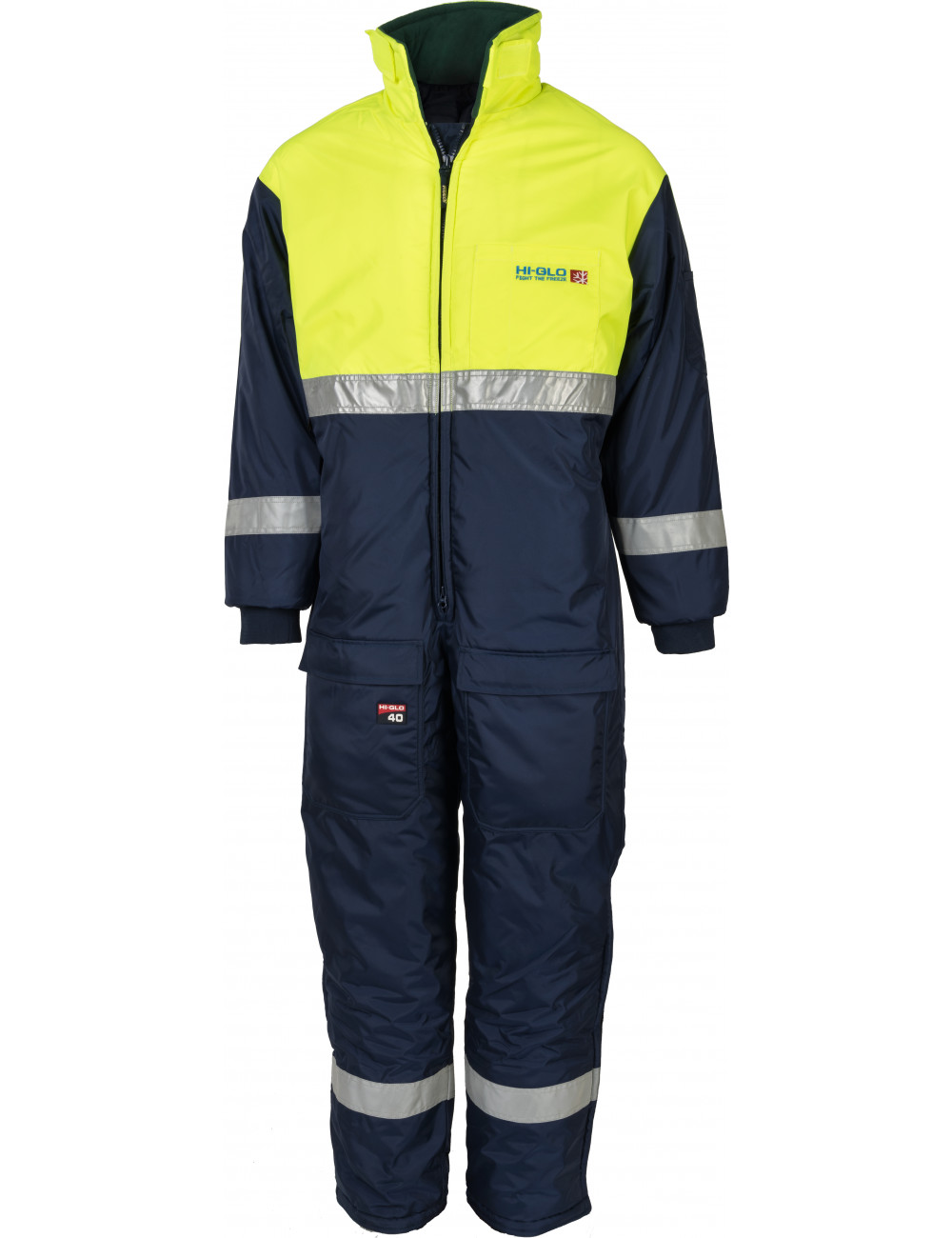 Freezer and refrigerator coveralls with reflectors protecting up to -83,3 ° C