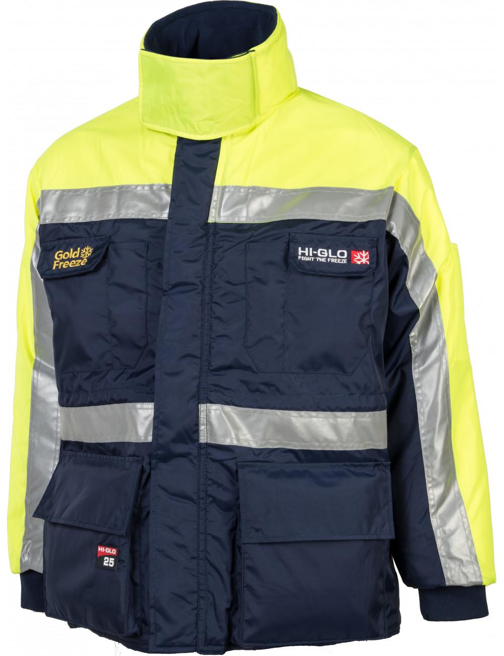 Jaket freezer reflektif dengan perlindungan hingga -64,2 ° C