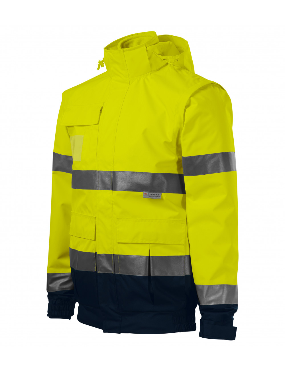 High-visibility reflective jacket